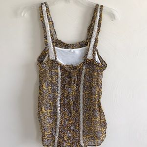 ANTHROPOLOGIE 2pc tank/crochet detail. EUC
